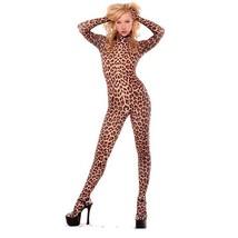 Leopard Lycra Spandex Suit Halloween Animal Bodysuit Costume Cosplay - $35.99