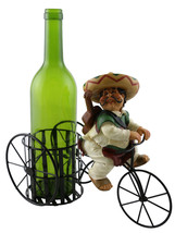 Mexican Guitar Player Wine Bottle Holder, Tricycle Rider w/ Sombrero - $27.83