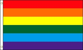 GiftExpress 4x6 Ft Rainbow Flag/Gay Pride Flag - Gay Lesbian LGBT Equali... - $14.55