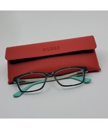 GUESS GU2538 005 Teal Black Optical Eyeglasses Frame For Women with case - $39.00