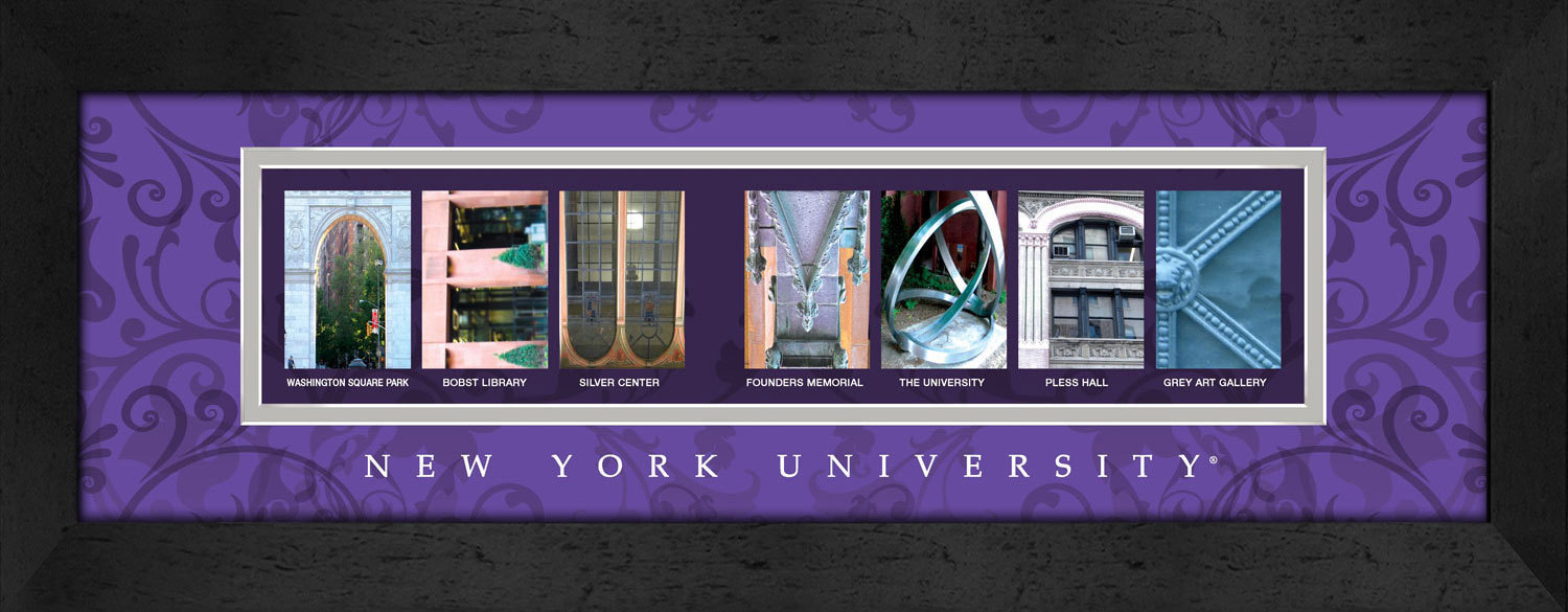 Primary image for New York University (NYU) Officially Licensed Framed Campus Letter Art