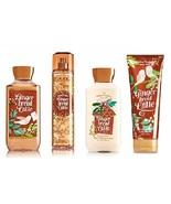 4 Pc Bath & Body Works Gingerbread Latte Set- Cream, Lotion, Shower Gel ... - $36.99