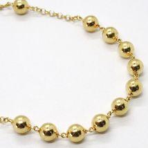 18K YELLOW GOLD  ROSARY BRACELET, 5 MM SPHERES, CROSS & MIRACULOUS MEDAL image 3