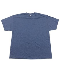 NEW Blue T-shirt 2X XX Large Polyester Cotton Tee Blue Heather Alstyle L... - $9.49