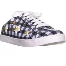Betsey Johnson Edna Slip On Sneakers, Blue Gingham, 6.5 US - $36.47