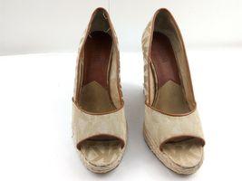 MICHAEL KORS Womens Wedges 7.5 Tan Cabana Peep Toe Platform Espadrilles $144 image 3