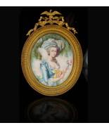 Signed Antique Portrait 18th century Marie Antoinette Painting Miniature... - $1,450.00