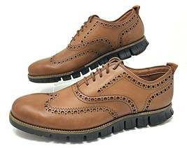 Cole Haan ZeroGrand Wingtip Oxfords British Tan Leather Brown Size 8 ( C... - $119.99