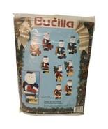 VtG Bucilla Christmas Santas of Yesteryear  Plastic Canvas Ornament Kit ... - $22.28