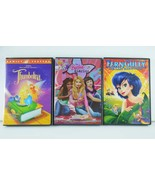 Lot Ferngully Barbie Diaries Thumbelina Girls Movies 3PC Girls Boy Kids ... - $15.83