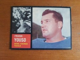 1962 Topps #96 Frank Youso SP Vikings Pretty Nice Card - $3.96