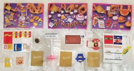1995 Barbie Fun Fixin' LOT Microwave, Grill & 3 Sets Accessories Sticker... - $36.73