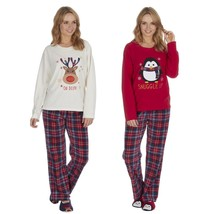 Ladies Christmas Microfleece Pyjama and Slipper Set ~ UK 8-22 - $36.01