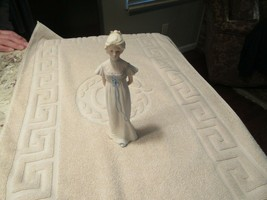 "Cybris , Porcelain , Girl With Blue Ribbon , 9""X 21/2"" , Vintage - $95.00"