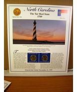 North Carolina Statehood Quarters Collection Postal Commemorative Society - $8.09