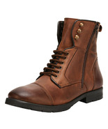 LibertyZeno Men's Genuine Leather Lace Up Ankle Length Casual Boots- L-1... - $64.99
