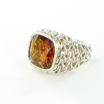 John Hardy Classic Chain 14mm Citrine Ring Sterling Sterling Silver New ... - $1,236.75