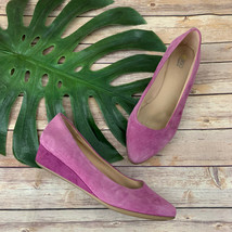 Easy Spirit E360 Womens Wedges Size 9.5 W Purple Suede Esavery Point Toe - $37.60 CAD