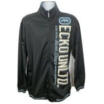 Ecko Unltd Actual Factual Track Jacket Size XL Black - $52.46