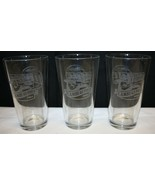Set of 3 Lambeau Field Miller Lite Glasses Etched  - $29.69