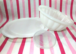 FUN Vintage Tupperware Jel-N-Serve Mold With White Tray and Heart Design... - $8.00