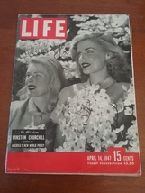 Vintage Life Magazine 1947 April 14, Winston Churchill - New World Policy - $18.95
