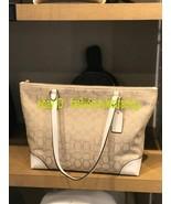 NWT Coach Zip Top Tote In Signature Jacquard  Bag Purse F29958 $250 - $85.00