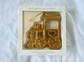 Old Fashioned Cookie Mold Train Ornament Brass Silvestri Heirloom Collec... - $12.86