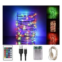 Libeder Led Fairy String Lights Power Operated with Remote Christmas Hal... - $25.19
