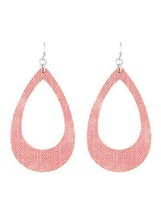 Fashion Statement Pink Fabric Teardrop  Dangle Earrings For Women Boho J... - $11.66