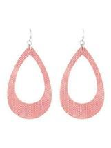Fashion Statement Pink Fabric Teardrop  Dangle Earrings For Women Boho J... - $11.66