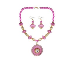 Indian Designer Jewelry Bollywood Style Gold Plated Pink Thread Necklace... - $14.00