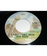 Nick Nixon VG Ein Habit I Can'T Break 45 Walk On Von Mercury 73506 17.8cm - $19.74