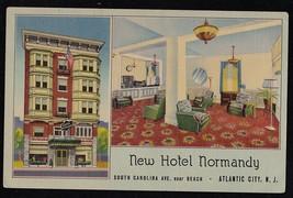 Antique Vintage Postcard New Hotel Normandy Atlantic City N.J. - Unused - $4.94
