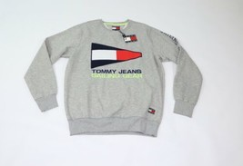 New Tommy Hilfiger Mens Large Spell Out Sailing Flag Logo Crewneck Sweat... - $128.65