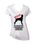 DOBERMAN - OFFICIAL WALKER - NEW WHITE COTTON LADY TSHIRT - $19.53