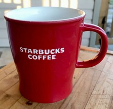 Starbucks Coffee Mug Red & White Holiday Christmas Stoneware Ceramic Ltd Ed - $25.52
