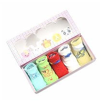 Simple Animal Design Baby Socks Gift Sets for Baby Shower
