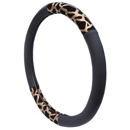 Luxury Design Golden Leopard Steering Wheel Cover (38CM)