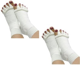 Sirosky 2 Pair White Toes Alignment Socks Massage foot Feet Toe Align Se... - $15.99