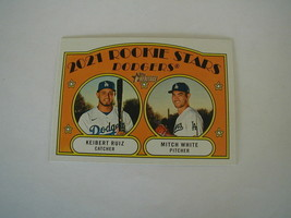 2021 Topps Heritage Dodgers Rookie Stars Kiebert Ruiz, Mitch White Card #357 Rc - $4.94