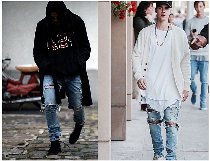jeans men fear of god brand ripped jeans for men hot high quality zipper fashion