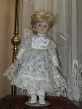 Vintage Porcelain Blonde Doll with Braids Juliette Europe 40 CM - $85.82