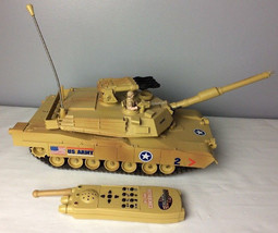 1990 Toy State M-1 Abrams Attack Tank w/ Controller - Voice, Lights, & S... - $122.85