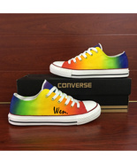 Low Top Converse Colorful Gradient Change Original Design Hand Painted ... - $149.00