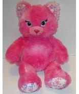 "BUILD A BEAR PINK PAINT SPLATTER KITTY CAT 16"" PLUSH STUFFED ANIMAL DOLL... - $9.99"