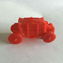 """Vintage  Red Resin Carriage 3"""" X 1"""" X1""""  - $7.87"""