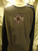 MLB Boston Red Sox gray with blue long sleeved shirt Medium Made by Reeb... - $14.20