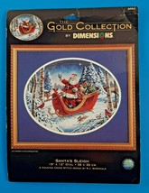Dimensions Gold Collection Santa's Sleigh Counted Cross Stitch Kit #8664 15x12 - $126.15