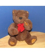 Gund Limited Collectors edition plush brown jointed teddy bear red bow t... - $10.68